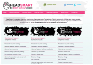 Screenshot of the HeadSmart Website